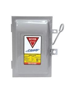Interruptor De Seguridad 2x30amp 2000 Royer