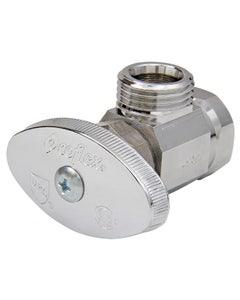 Valvula De Control Angular 13mm 1/2 Estandar Mnpt-hnpt Cromo Coflex Ip-100