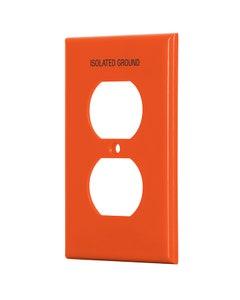 Placa 2 Vent P/contacto Duplex Naranja Nylon Linea Standard Voltech Ppdo-tas
