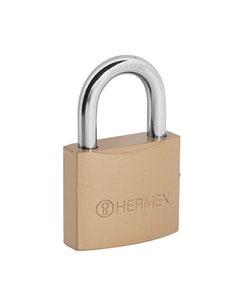 Candado De Seguridad Gancho Corto Hierro 40mm Llave Trad Ch-40p Hermex