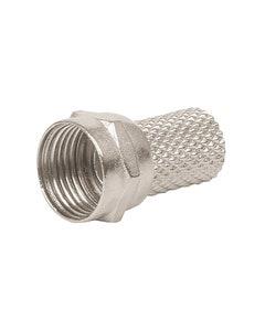 Conector De Enroscar Para Cable Coaxial Rg6 Voltech Bolsa C/4pzas Coco-6r