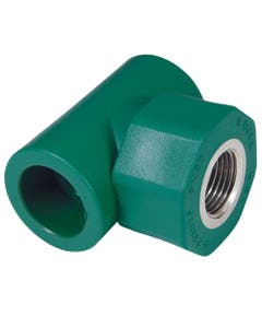 Tee Rosca Central Hembra Pp-r 20mm 1/2 Verdeplus Termofusionable