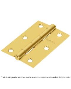 Bisagra Rectangular C/perno Remachado Acero Latonado 2 1/2 Hermex Br-251