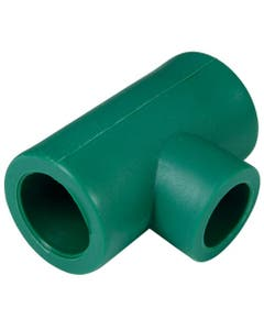 Tee Red Central Pp-r 32x32x25 Mm 1x1x3/4 Verdeplus Termofusionable