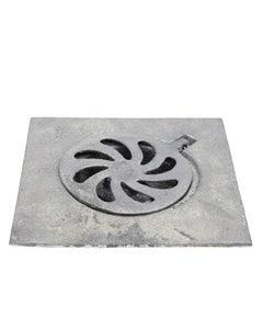 Coladera P/patio C/rej.cuad.aluminio 15cm