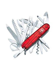 Navaja Swiss Champ Roja Transparente 33 Usos 1.6795.t Victorinox